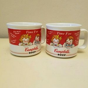 Campbell's soup mugs cup 1993 set of 2